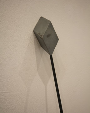 'Spear' Zinc and Carbon rod. 1500mm high. 2013