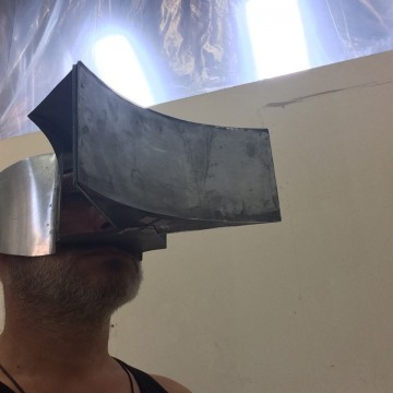 Optical mask in the studio